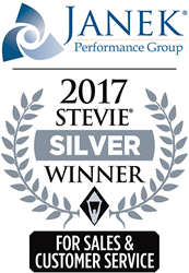 JANEK PERFORMANCE GROUP WINS TWO SILVER AWARDS IN  11th ANNUAL STEVIE AWARDS FOR SALES & CUSTOMER SERVICE