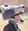 gender-neutral unisize plush toy costume headwear Wolf werewolf jawesome hat