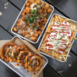Poutine Tots, Housemade Beer-Battered Onion Rings and Pizza Fries