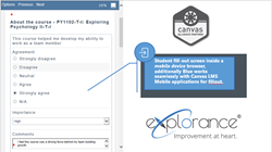 eXplorance Blue solution integrated into Canvas LMS