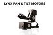 The Lynx Pan & Tilt Motors provide a full 360 degree range of motion in both pan and tilt directions. Like the Slider Motor, sound isolation keeps the motor running super quiet and is strong enough to