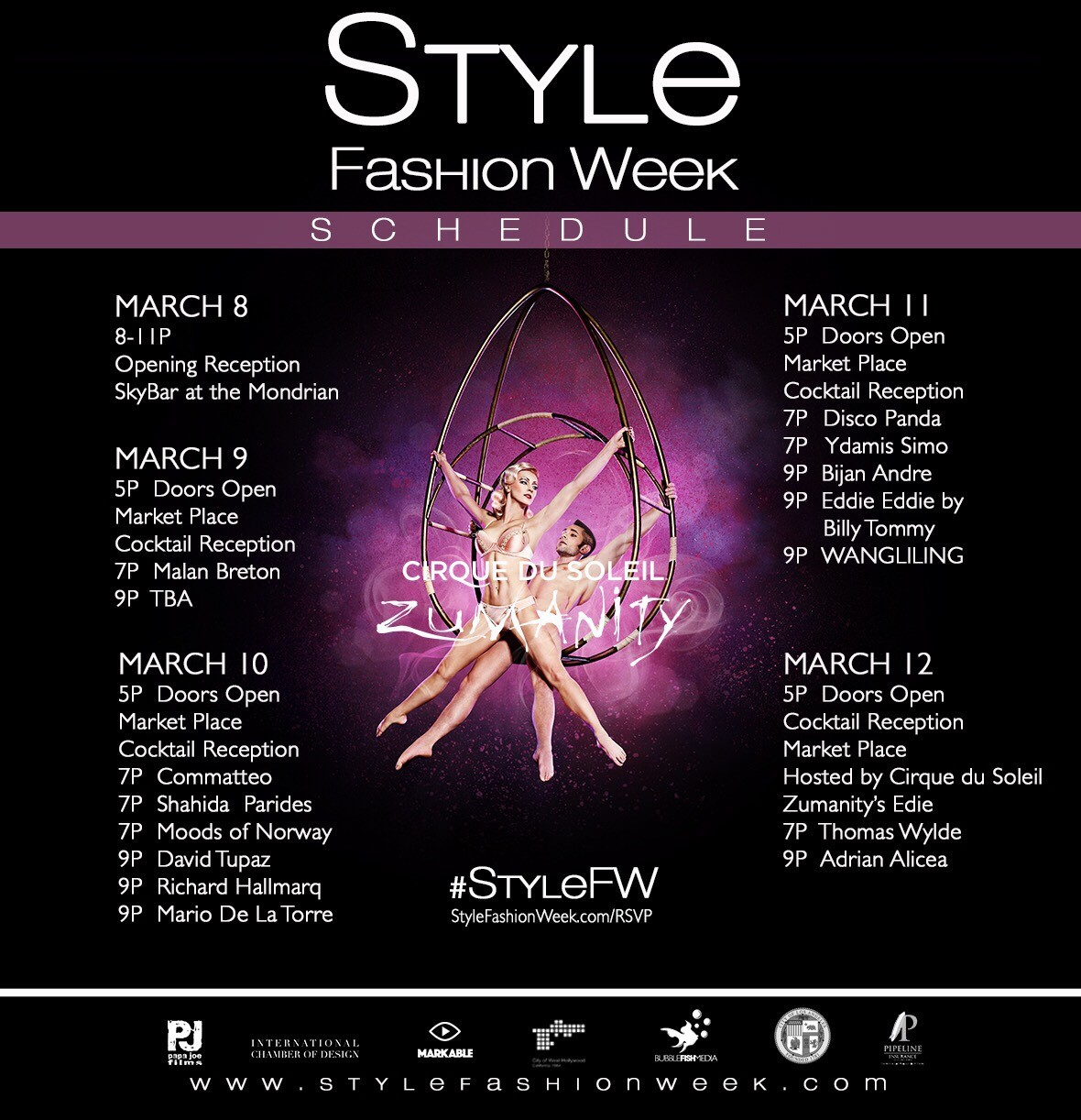 Style Fashion Week Los Angeles 12th Season To Feature Fashion Music And Art Spectacular At The Pacific Design Center March 9 12 2017