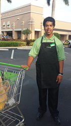 Jonier (JB) Burgos, who has a learning disability, is an important member of the Publix team.