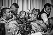 Farewell party for the first Georgian soldiers deployed to Iraq. Tbilisi. 2005.  © Justyna Mielnikiewicz