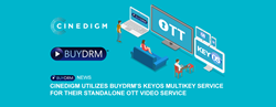 Cinedigm Utilizes BuyDRM's KeyOS MultiKey Service for their Standalone OTT Video Service.