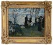 Martha Walter's Along the Seine Celebrating Bastille Day Realized $31,460.