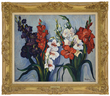 Hayley Lever's Red, White, and Purple Gladiolas Realized $44,770.