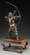 Yoshimitsu's Bronze Okimono of a Standing Archer Realized $24,200.