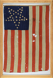 "Rare ""Inverted Great Star"" Abraham Lincoln Funeral Flag Realized $20,570."