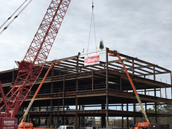 Raising the beam for Legacy at Brier Creek Topping Out