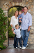 Brent McCaffrey, president of McCaffrey Homes of Fresno, California and his family.