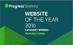 Progress Sitefinity Website of the Year Award Badge