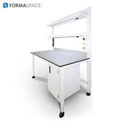 Integrated Lab Services Bench by Formaspace
