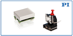 *NEW* OEM driver, shown with Q-522 multi-axis miniature positioning stage