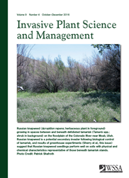 Invasive Plant Science and Management Cover