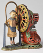 J. & E. Stevens Cast Iron Girl Skipping Rope Mechanical Bank, Estimated at $25,000-35,000.