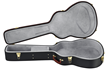 It is a large canvas cloth with a strap that can be wrapped around the hard guitar case.