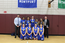 The Montfort Academy Girls Basketball Team