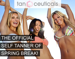 Tanceuticals, the Official Self Tanner of Spring Break