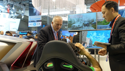 Vodafone exhibiting its connected car project at Mobile World Congress in Barcelona.