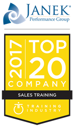 Janek Performance Group Included In Training Industry 2017 Top 20 Sales Training Companies List