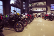 Showroom lined with motorcycles at Zeigler Motorsports