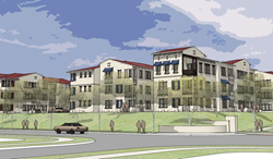 Rendering of the street view of Enclave Otay Ranch