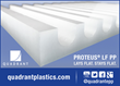 Quadrant Introduces Stable Polypropylene Sheet That Lays Flat & Stays Flat After Machining