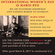The Left-handed Pen is Mightier than the Sword: Lefty's The Left Hand Store Celebrates International Women's Day with Free Left-handed Pens
