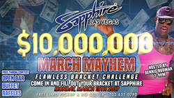 Sapphire Las Vegas Ten Million Dollar Flawless Bracket Challenge Party Hosted By Dennis Rodman