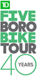 Bike New York's TD Five Boro Bike Tour Rides Through NYC May 7th