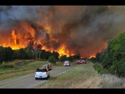 OK Wildfires has caused mass land destruciton
