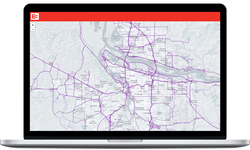 Data that enabled the creation of this map illustrating real time movement of truck traffic over the highway system can be provided by EROAD to a variety of government agencies worldwide to support a wide array of transportation modeling efforts.