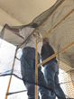 Bird Netting Keeps Barn Swallows Out of Dialysis Center