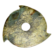 Neolithic flanged jade disc at Gianguan Auctions.