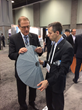 Daniel Rockberger (right) Chief Engineer and Co Founder talks about NSLComm's foldable antenna technology