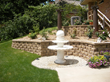 Terraced Retaining Wall and Fountain