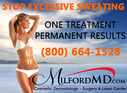 PrecisionTx at MilfordMD in NEPA can get rid of excessive sweating.