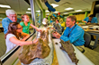 Touch a real dinosaur fossil at the Paleo Prep Lab in Dinosphere
