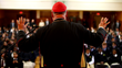 Cardinal Dolan addresses The Montfort Academy student body