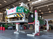 Automated Guided Vehicle on Stertil-Koni ST 1130 Mobile Column Lifts, capacity of 116,000 lbs. for a set of four.