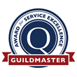 Logo for Guildmaster Award for Service Excellence Received by Level Homes of Baton Rouge LA