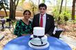 Dr. Kiran Patel with his wife, Dr. Pallavi Patel