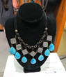A turquoise necklace by J. Forks Design out of Texas, displayed at the 2016 Western Design Conference Exhibit + Sale, is an example of the amazing handcrafted jewelry.
