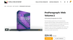 ProParagraph Web Volume 2 - FCPX Plugins - Pixel Effects