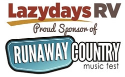 Lazydays RV partners with Runaway Country Music Festival