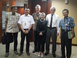 PLN Director of Planning Nicke Widyawati in front of ThorCon executives