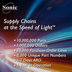 Sonic Manufacturing Technologies Instantly Procures 10 Million Parts Touch-Free