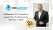 B2BGateway CEO Honored as a Supply Chain 'Pro To Know' for Third Year in a Row