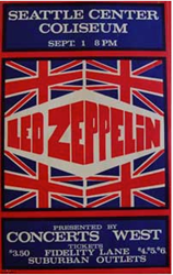 Original 1969-1971 Led Zeppelin Concert Posters